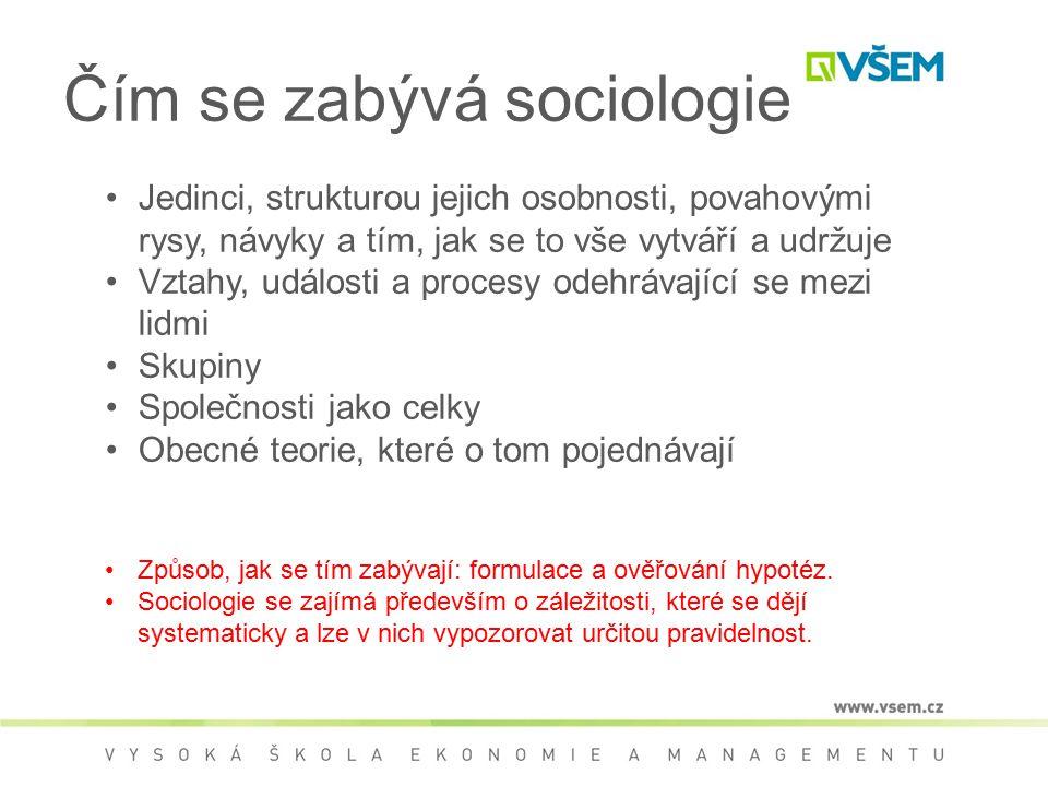 Čím se zabývá sociologie