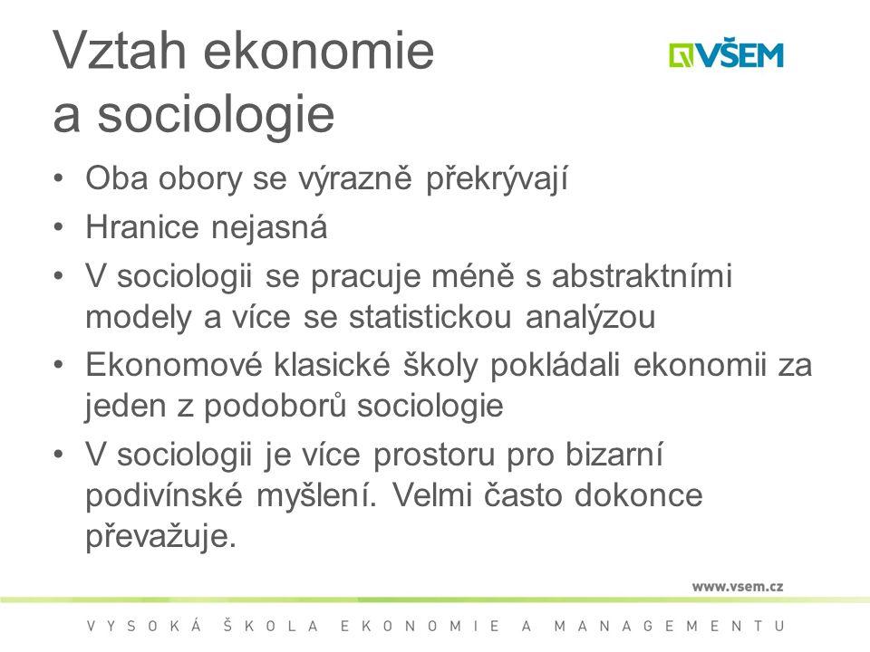 Vztah ekonomie a sociologie