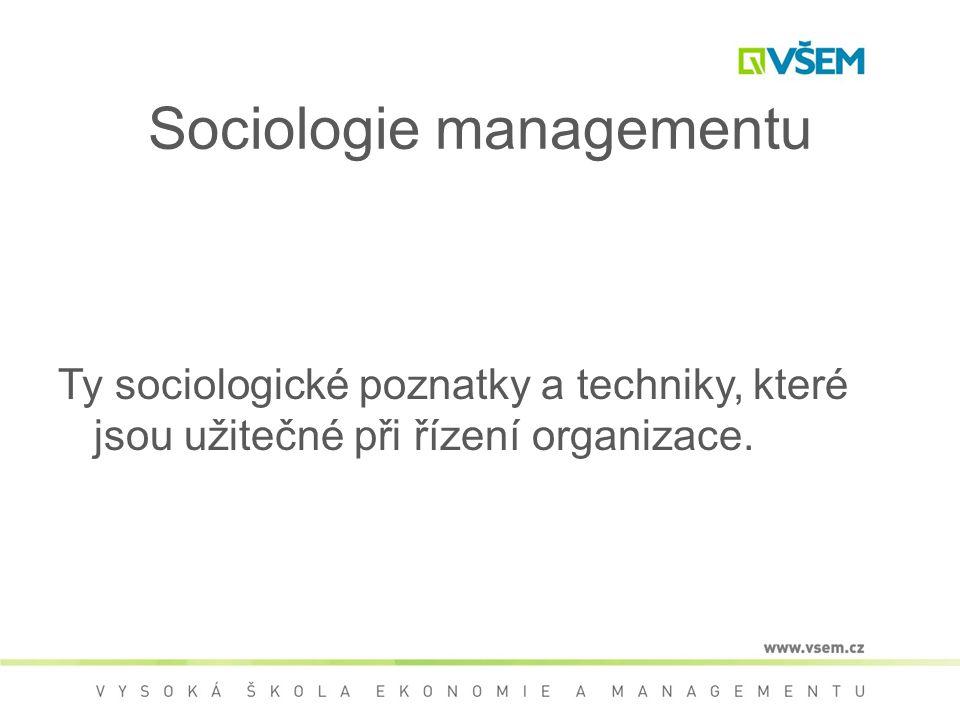 Sociologie managementu
