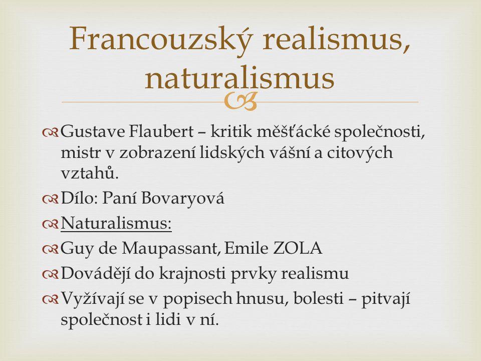 Francouzský realismus, naturalismus