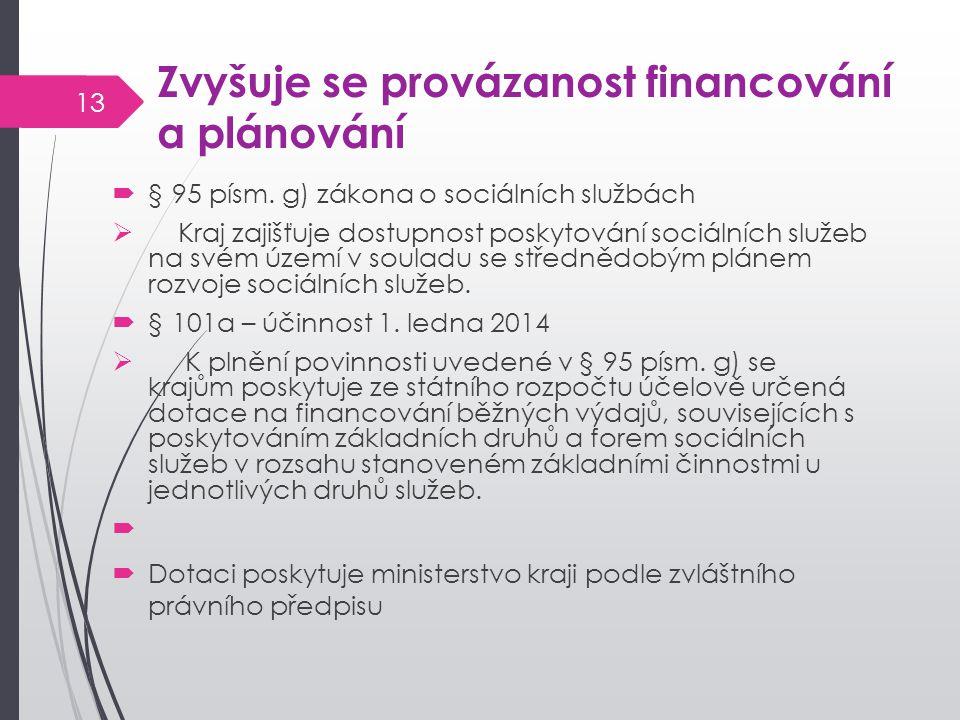 Zvyšuje se provázanost financování a plánování