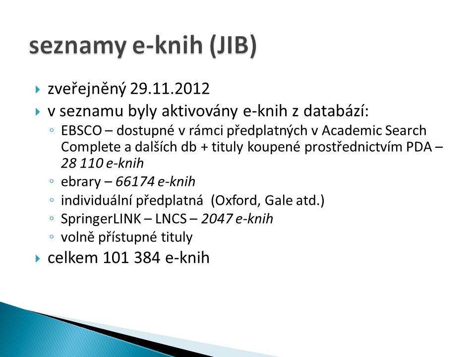 seznamy e-knih (JIB) zveřejněný 29.11.2012