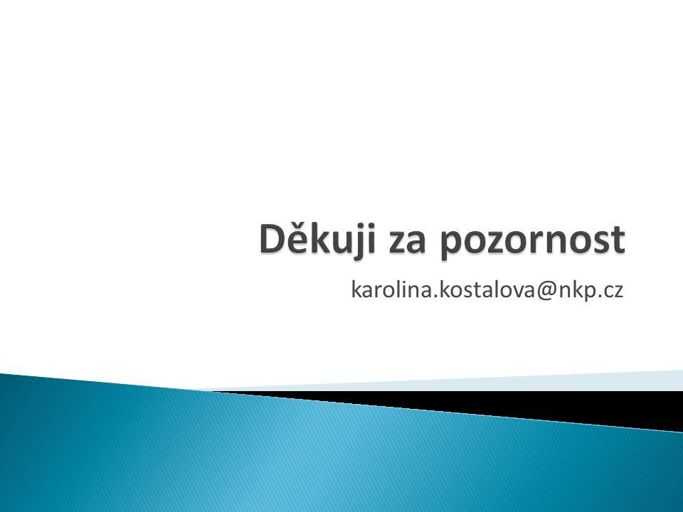 Děkuji za pozornost karolina.kostalova@nkp.cz