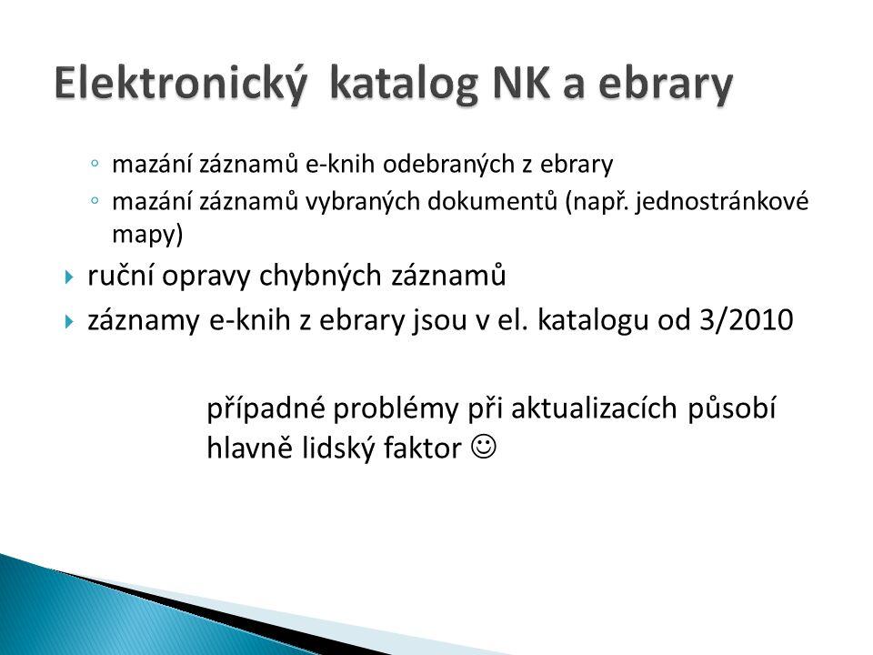 Elektronický katalog NK a ebrary