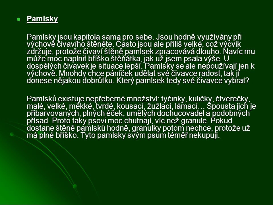 Pamlsky