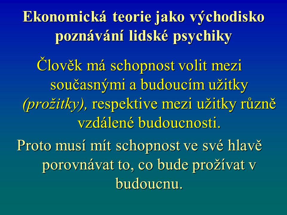 Ekonomická teorie jako východisko poznávání lidské psychiky