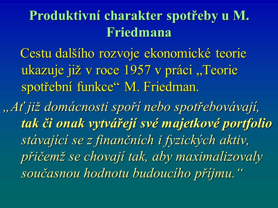 Produktivní charakter spotřeby u M. Friedmana