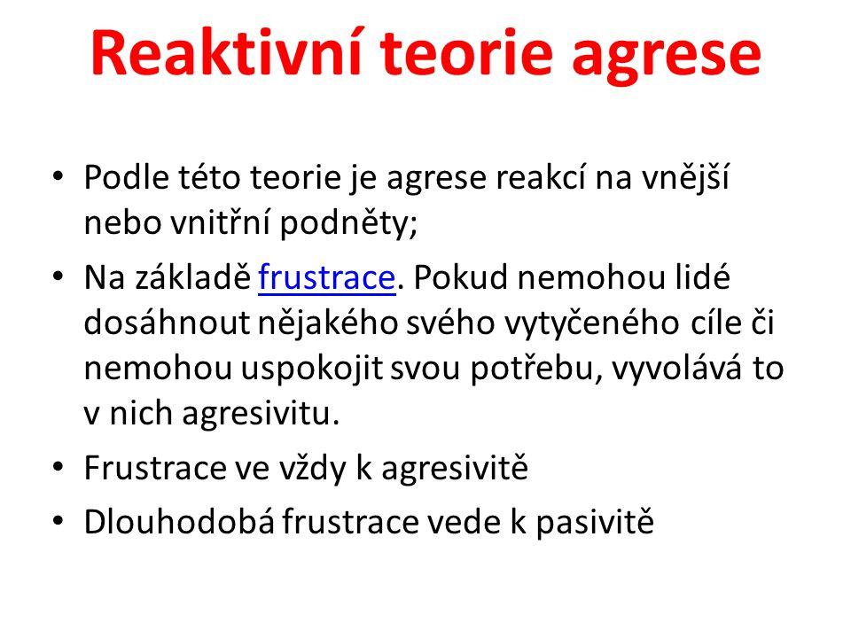 Reaktivní teorie agrese