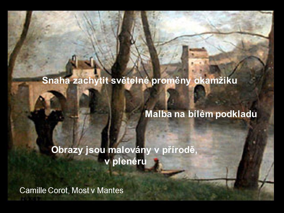 Obrazy jsou malovány v přírodě,