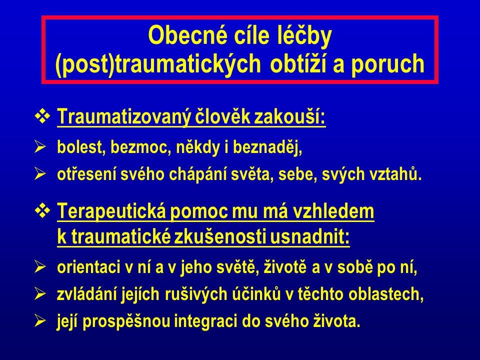 Obecné cíle léčby (post)traumatických obtíží a poruch