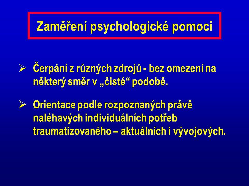Zaměření psychologické pomoci