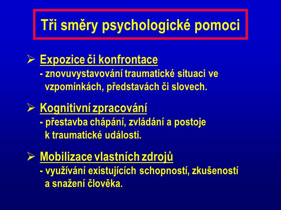 Tři směry psychologické pomoci