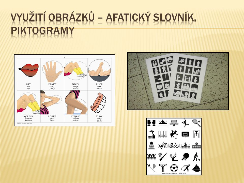Využití obrázků – afatický slovník, Piktogramy
