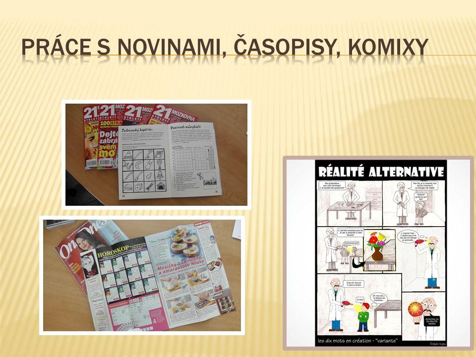Práce s novinami, časopisy, Komixy