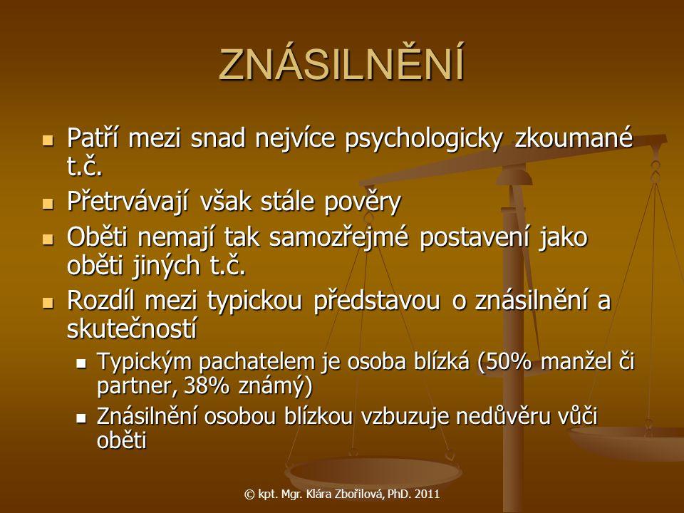 © kpt. Mgr. Klára Zbořilová, PhD. 2011