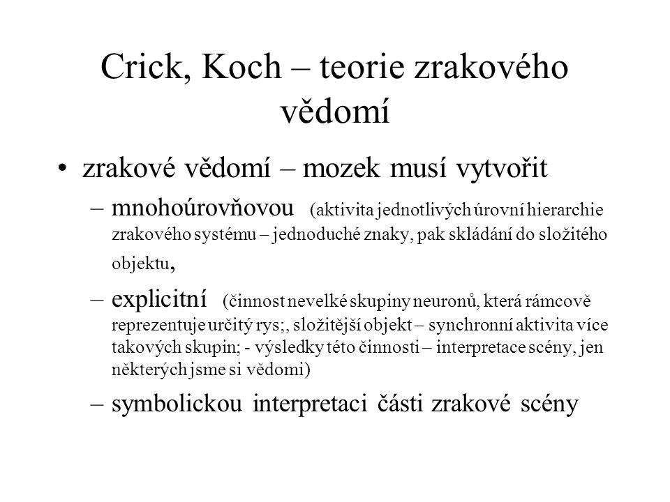 Crick, Koch – teorie zrakového vědomí