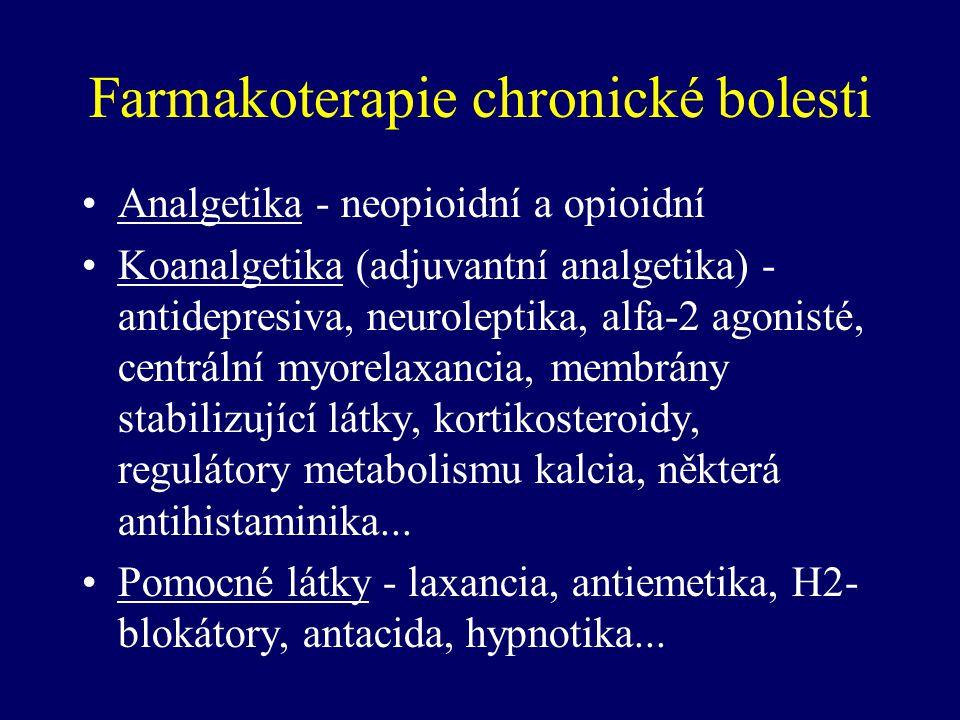 Farmakoterapie chronické bolesti