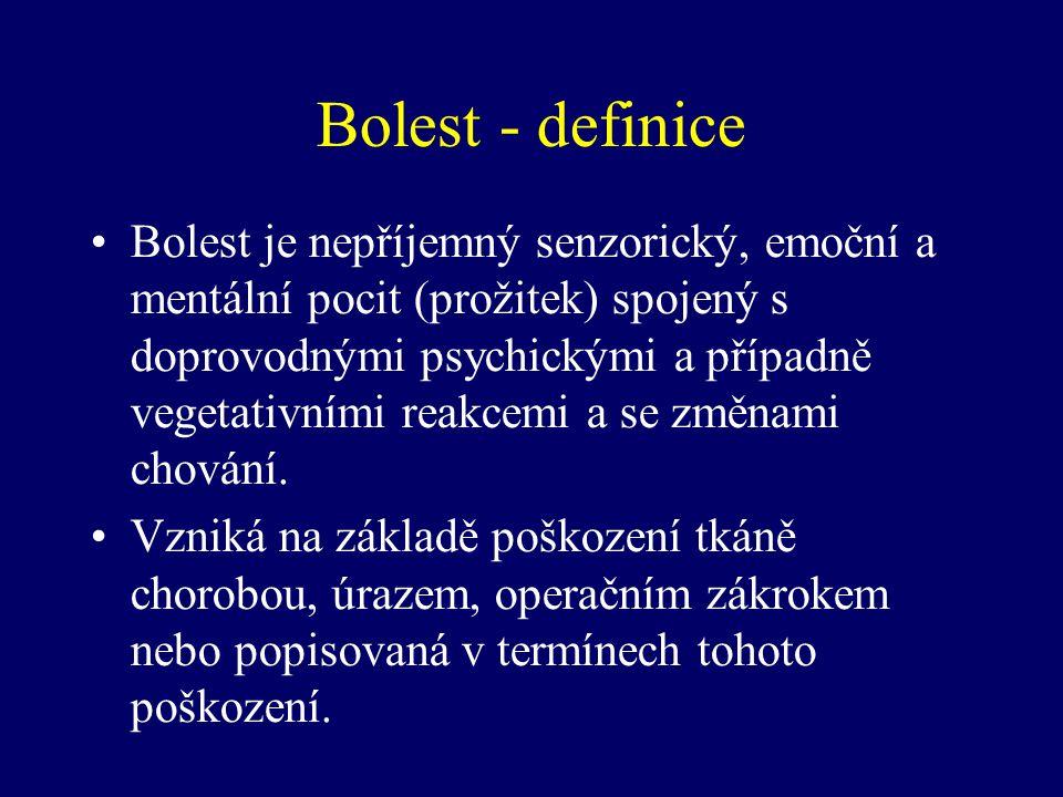 Bolest - definice