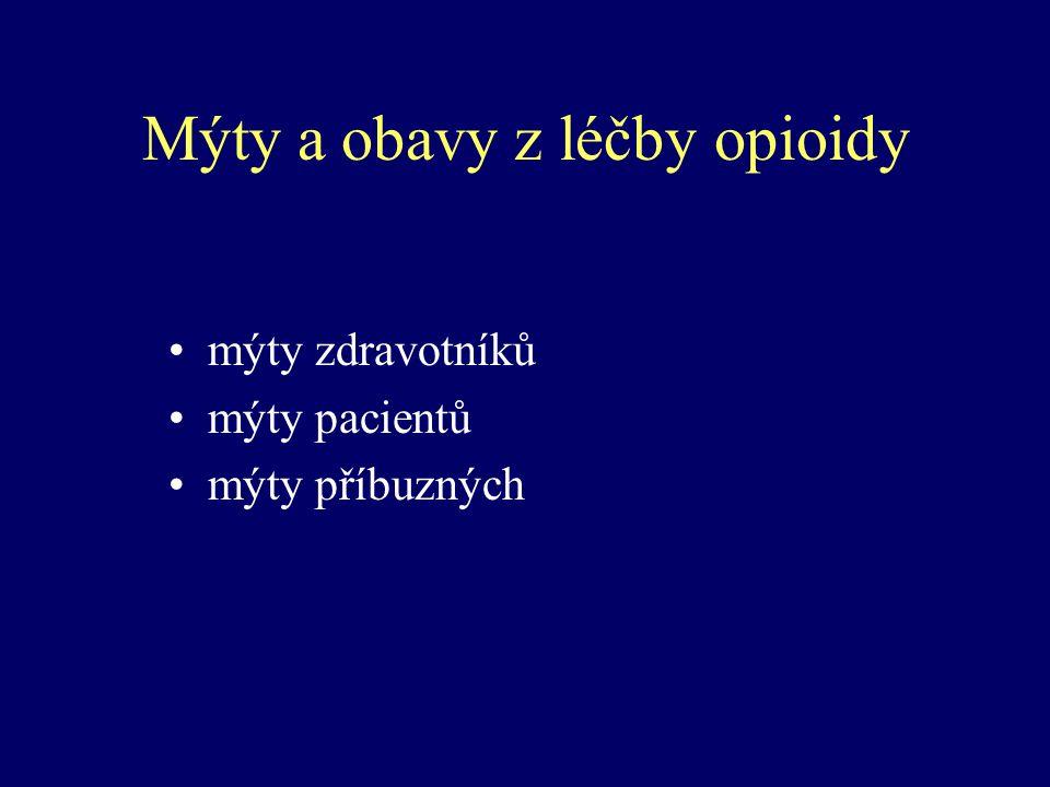 Mýty a obavy z léčby opioidy