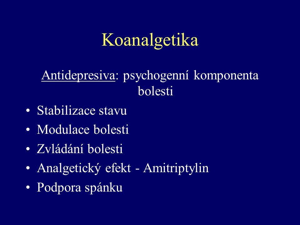 Antidepresiva: psychogenní komponenta bolesti