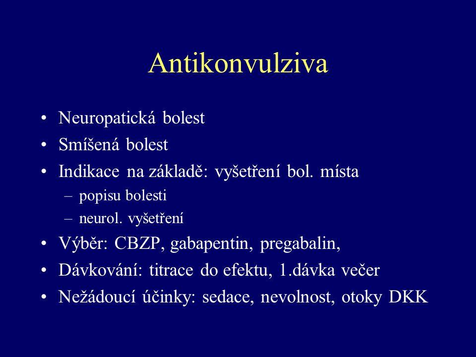 Antikonvulziva Neuropatická bolest Smíšená bolest