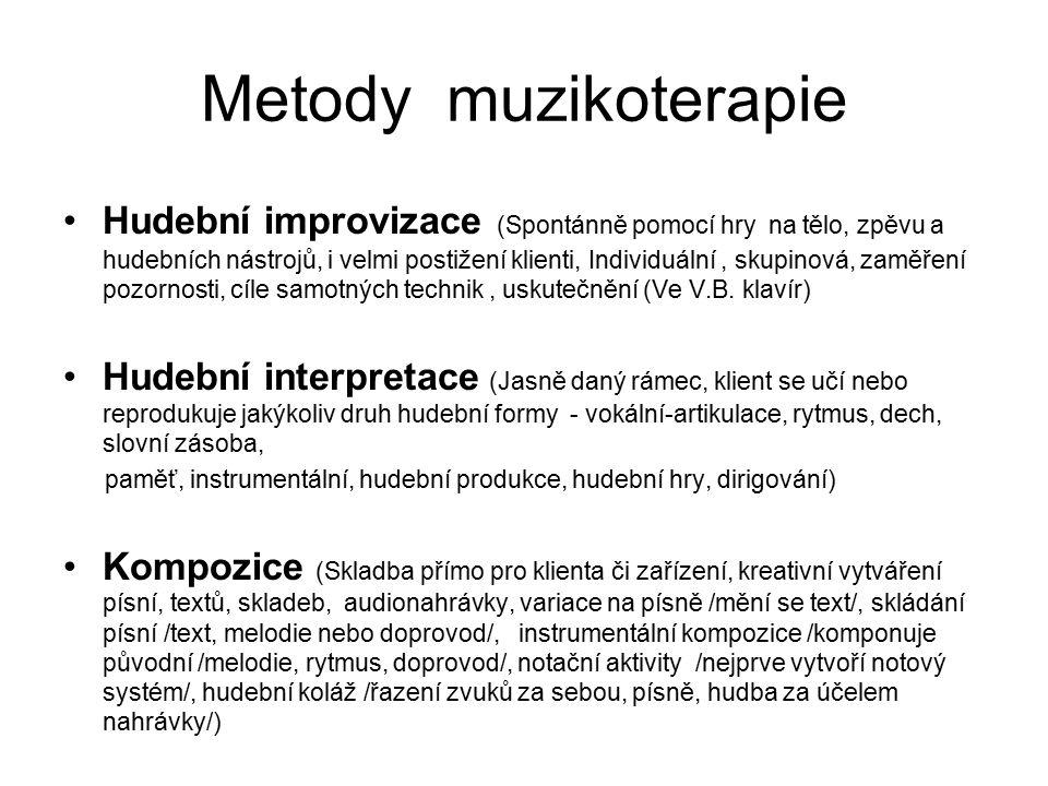 Metody muzikoterapie