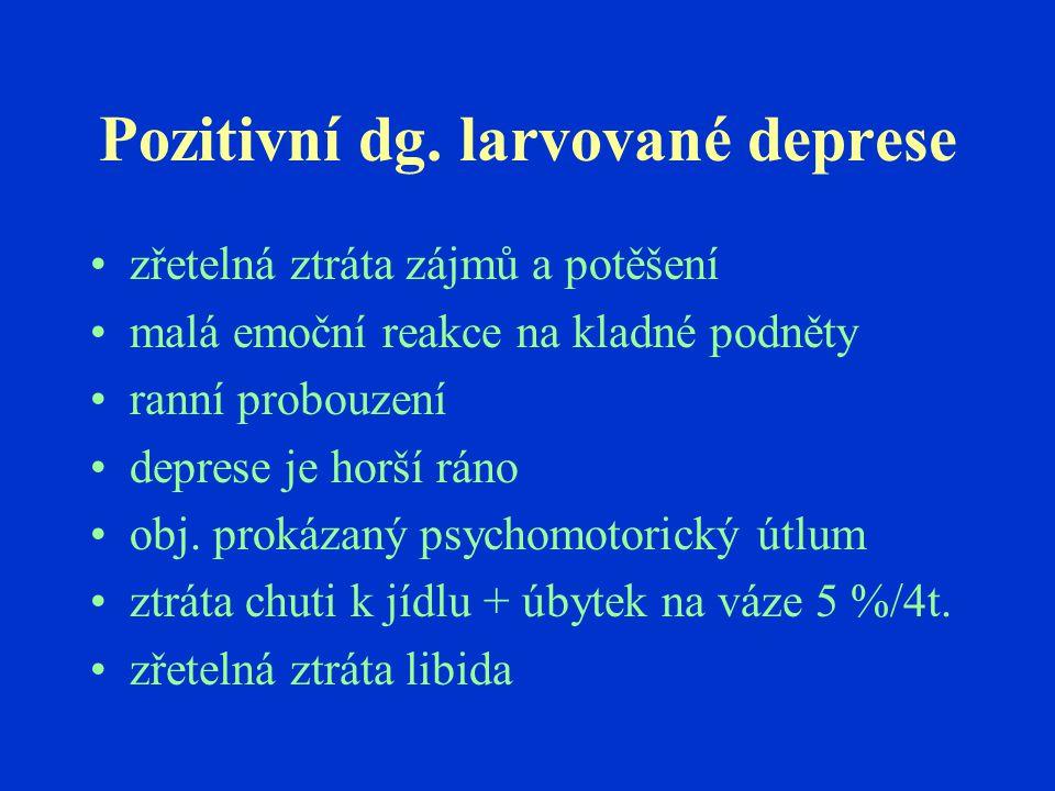 Pozitivní dg. larvované deprese