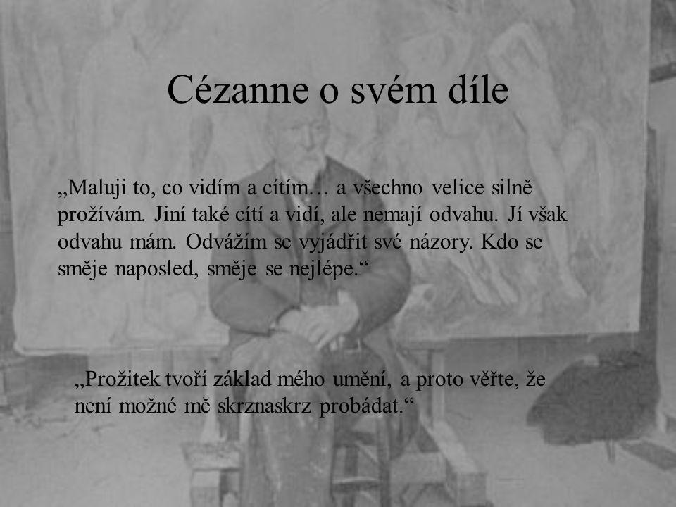 Cézanne o svém díle
