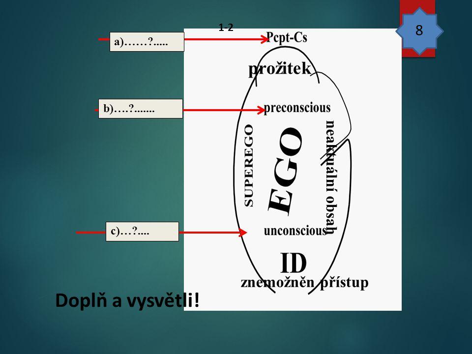 Doplň a vysvětli! prožitek 8 neaktuální obsah znemožněn přístup 99 1-2