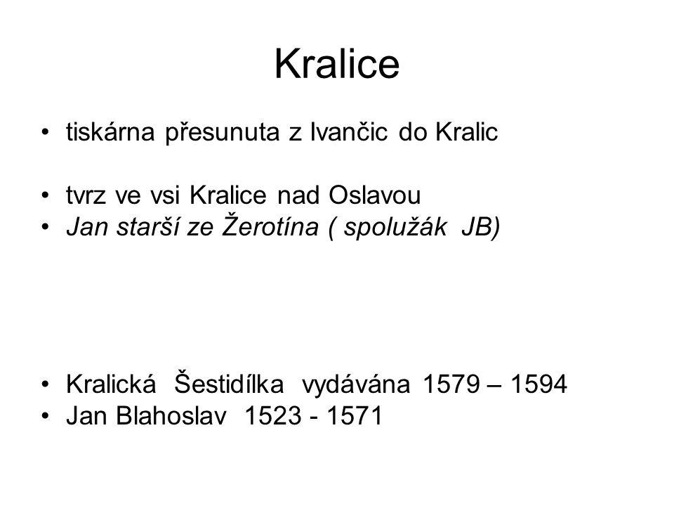 Kralice tiskárna přesunuta z Ivančic do Kralic