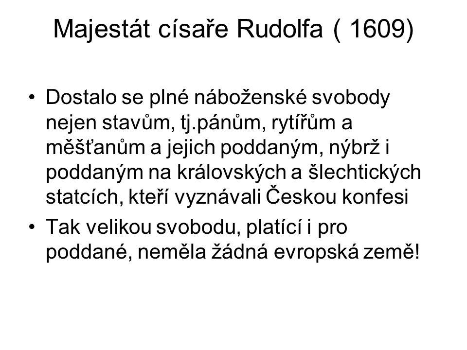 Majestát císaře Rudolfa ( 1609)