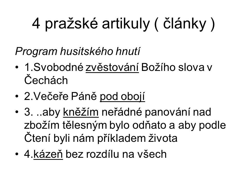 4 pražské artikuly ( články )