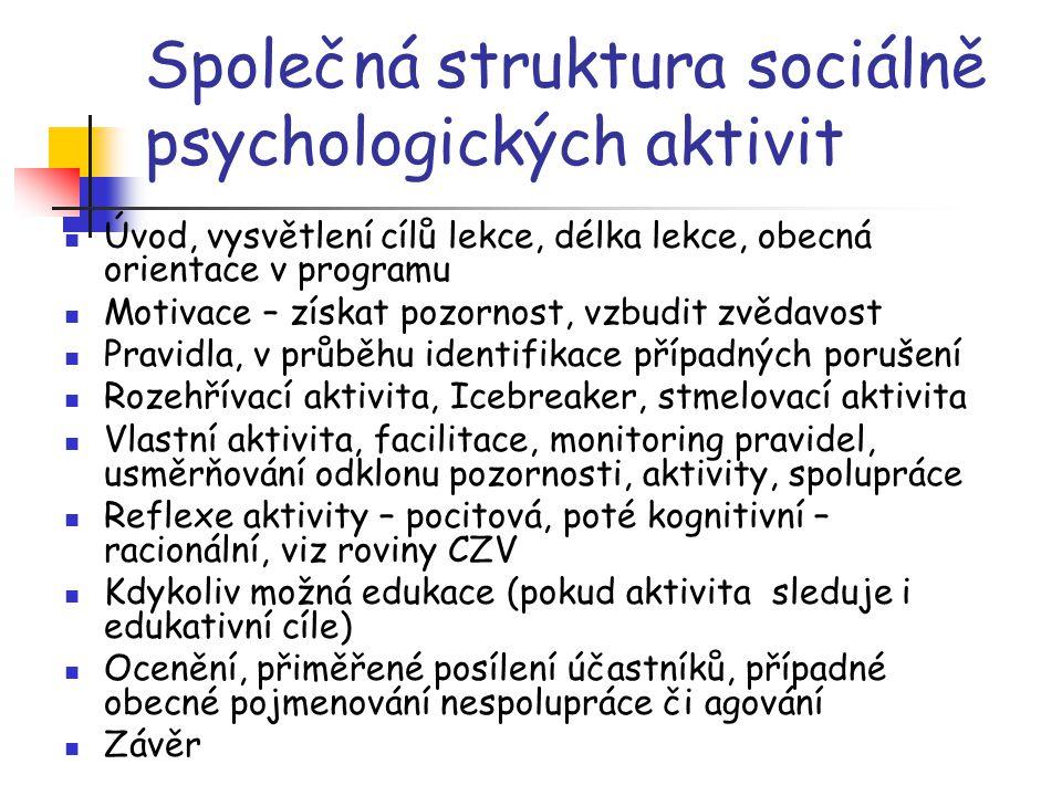 Společná struktura sociálně psychologických aktivit