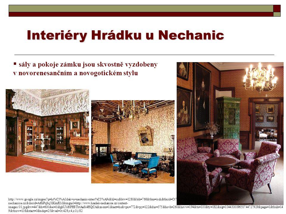 Interiéry Hrádku u Nechanic
