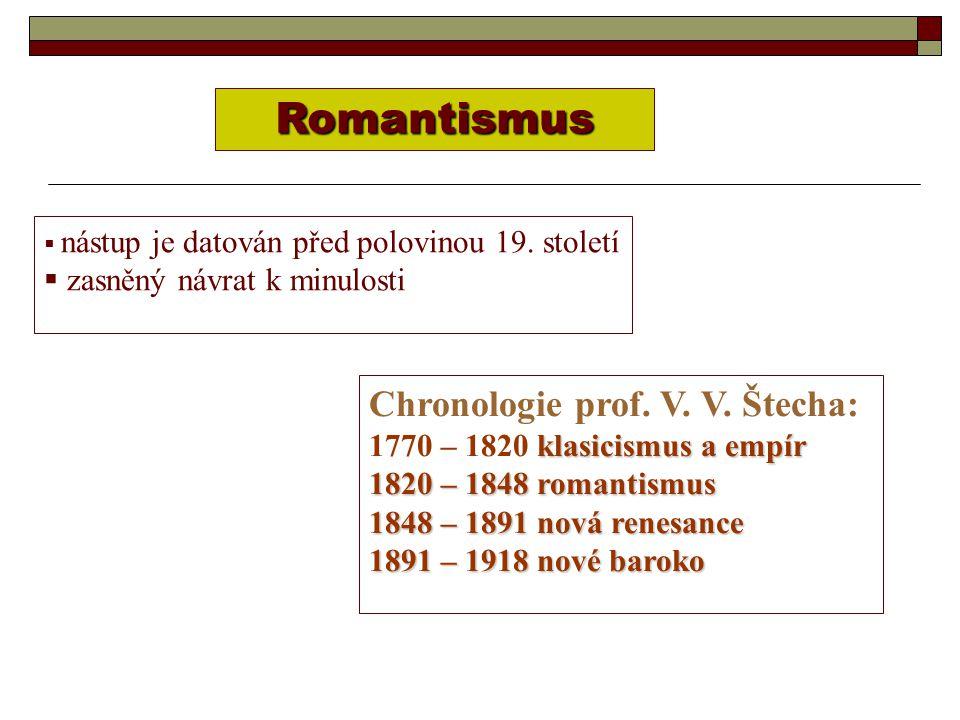 Romantismus Chronologie prof. V. V. Štecha: zasněný návrat k minulosti