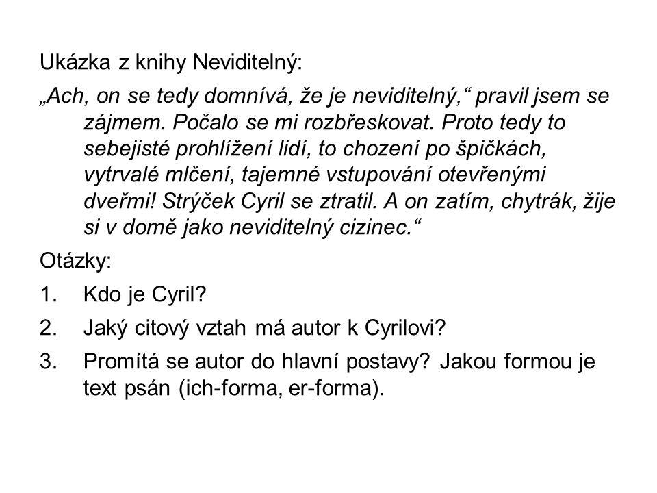 Ukázka z knihy Neviditelný: