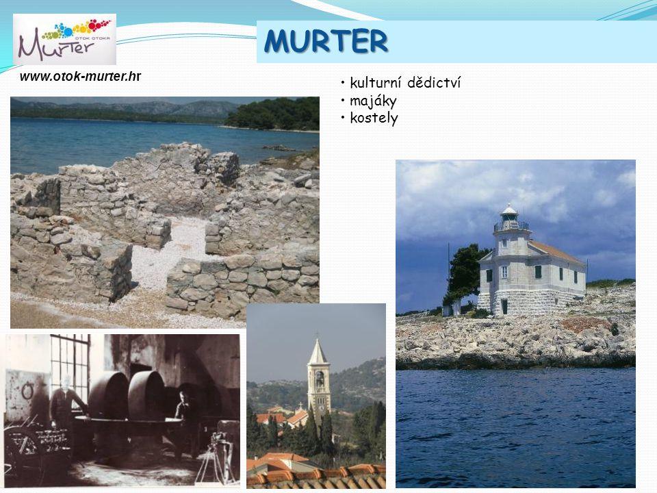 MURTER www.otok-murter.hr kulturní dědictví majáky kostely 2011.