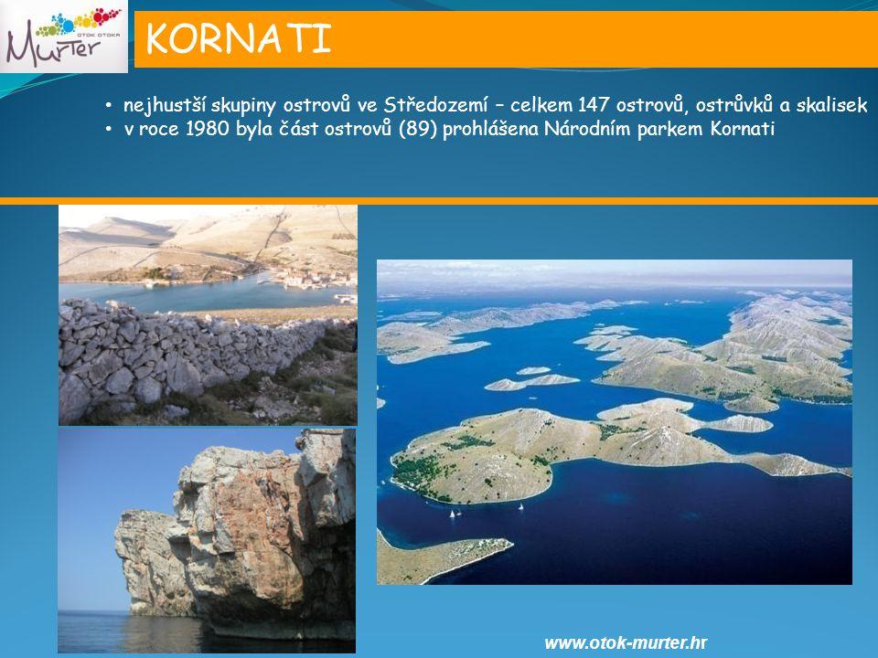 KORNATI nejhustší skupiny ostrovů ve Středozemí – celkem 147 ostrovů, ostrůvků a skalisek.