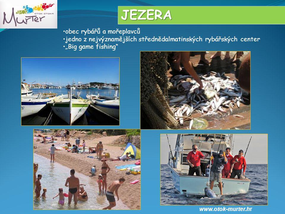 JEZERA obec rybářů a mořeplavců