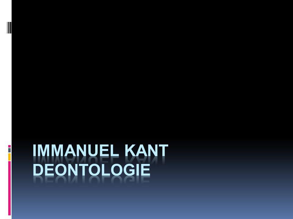 immanuel kant deontologie