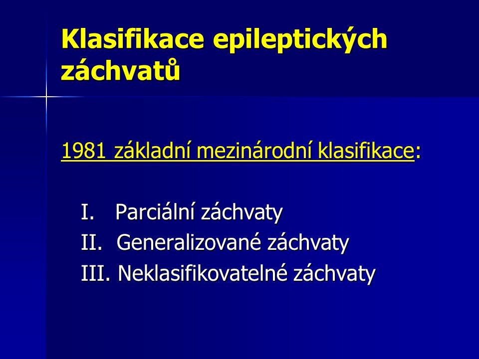 Klasifikace epileptických záchvatů