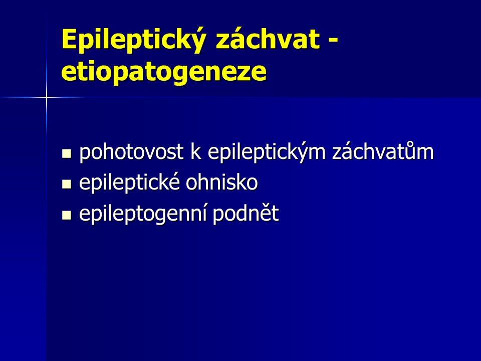 Epileptický záchvat - etiopatogeneze