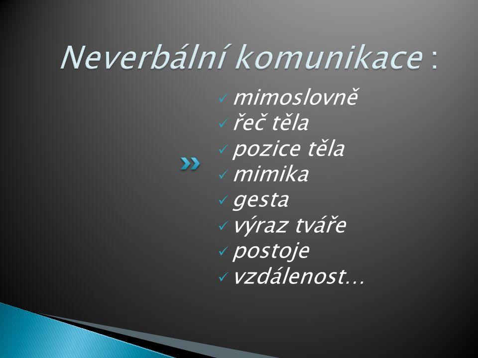 Neverbální komunikace :