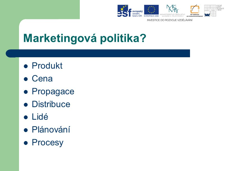 Marketingová politika
