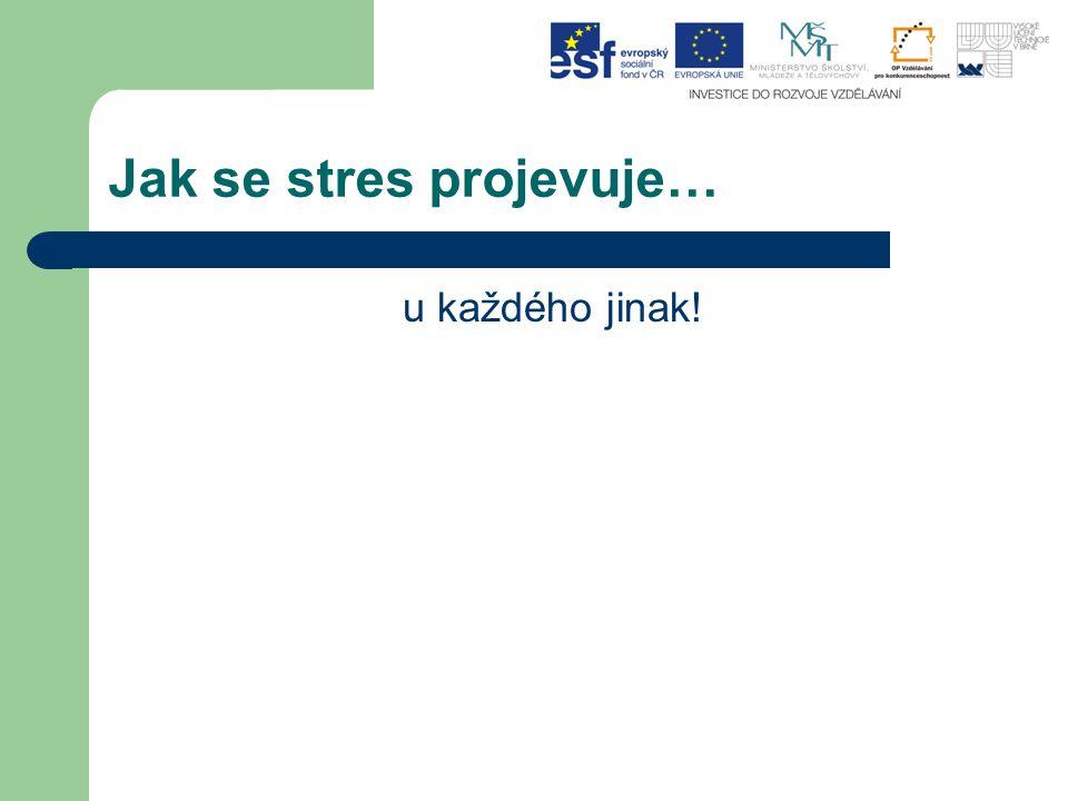 Jak se stres projevuje…