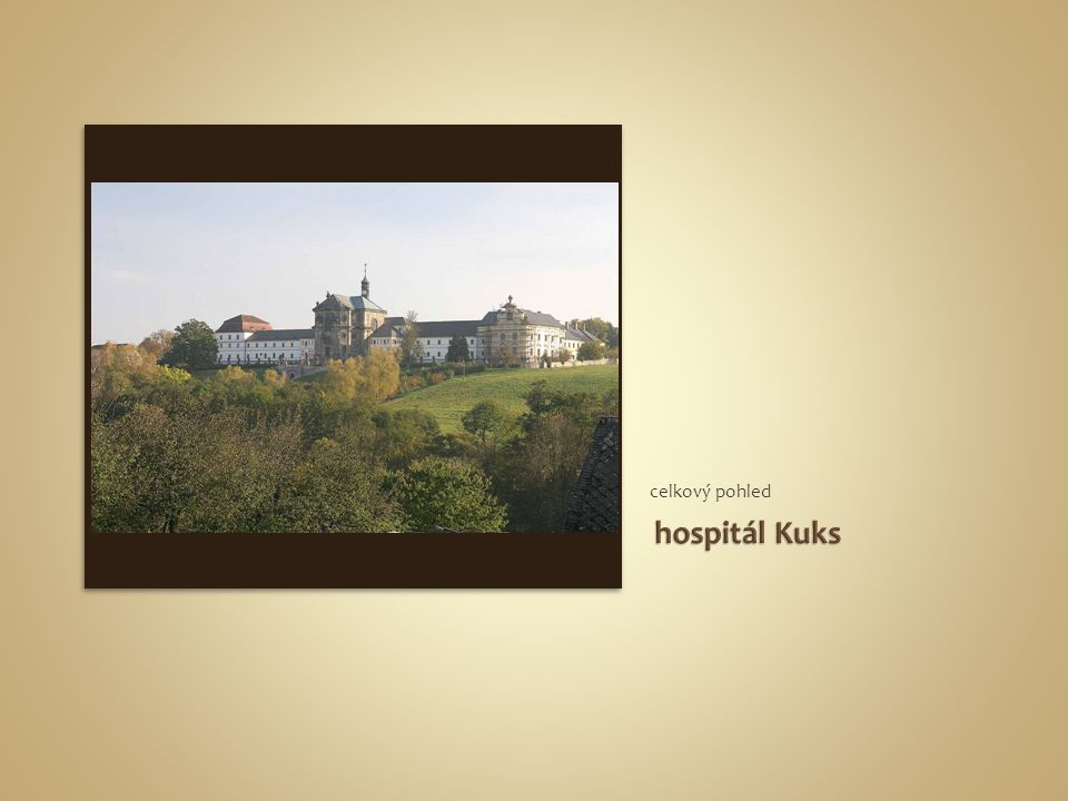 celkový pohled hospitál Kuks
