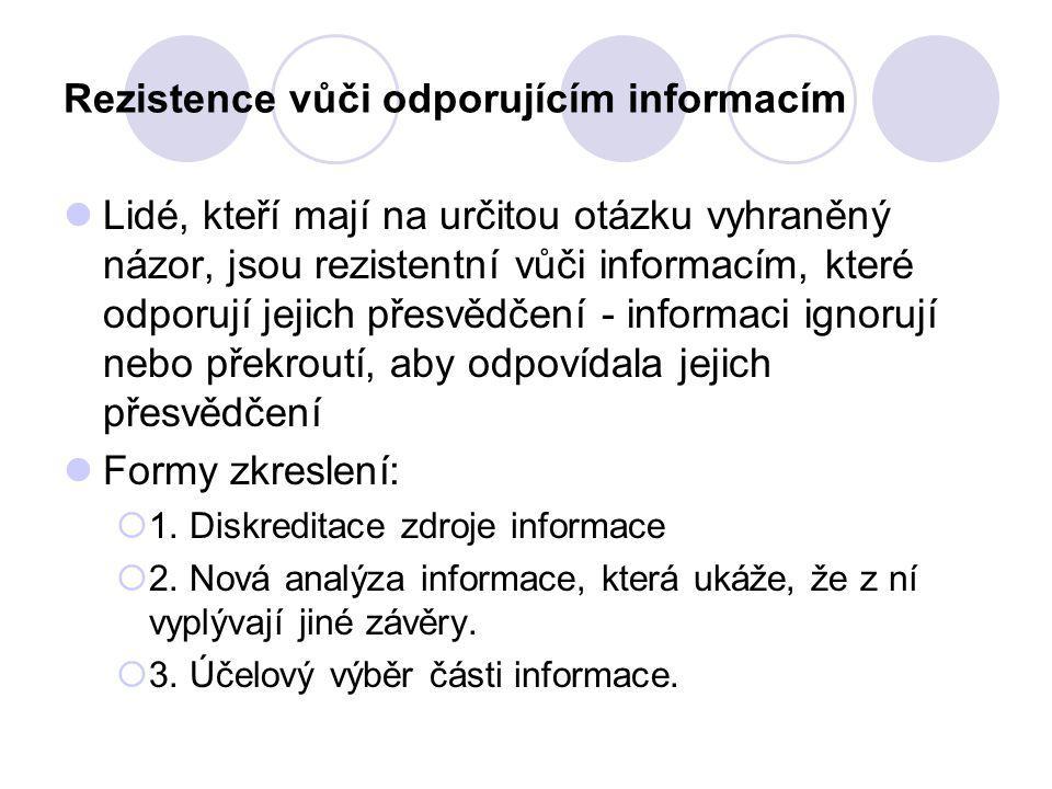 Rezistence vůči odporujícím informacím