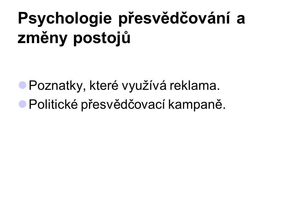 Psychologie přesvědčování a změny postojů