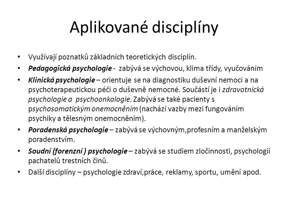 Aplikované disciplíny