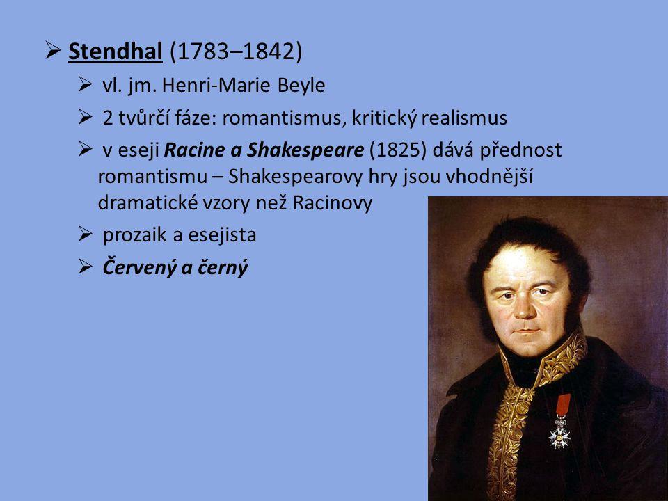 Stendhal (1783–1842) vl. jm. Henri-Marie Beyle